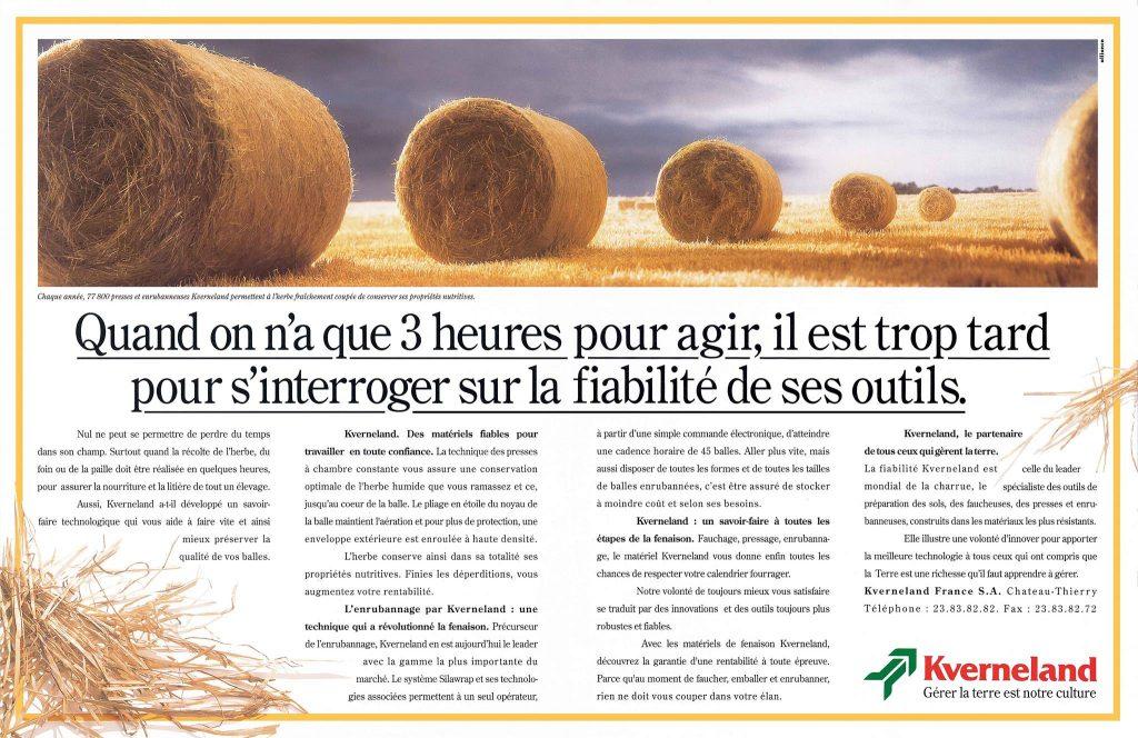 campagne agricole presse kverneland 1995