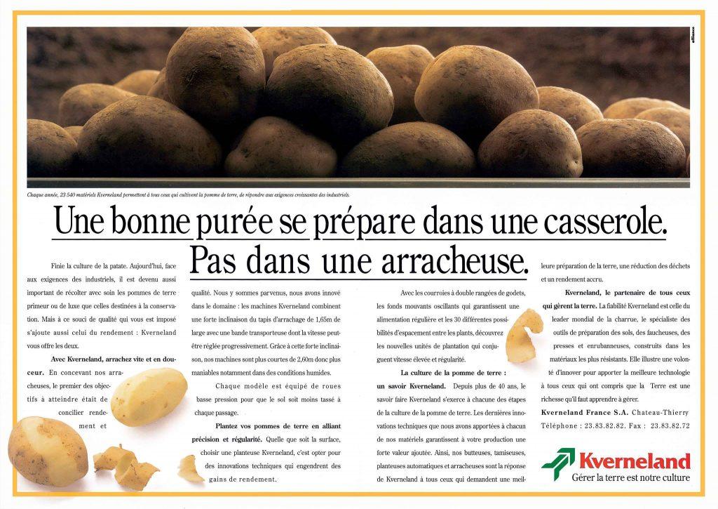 campagne agricole arracheuses de pommes de terre kverneland 1995
