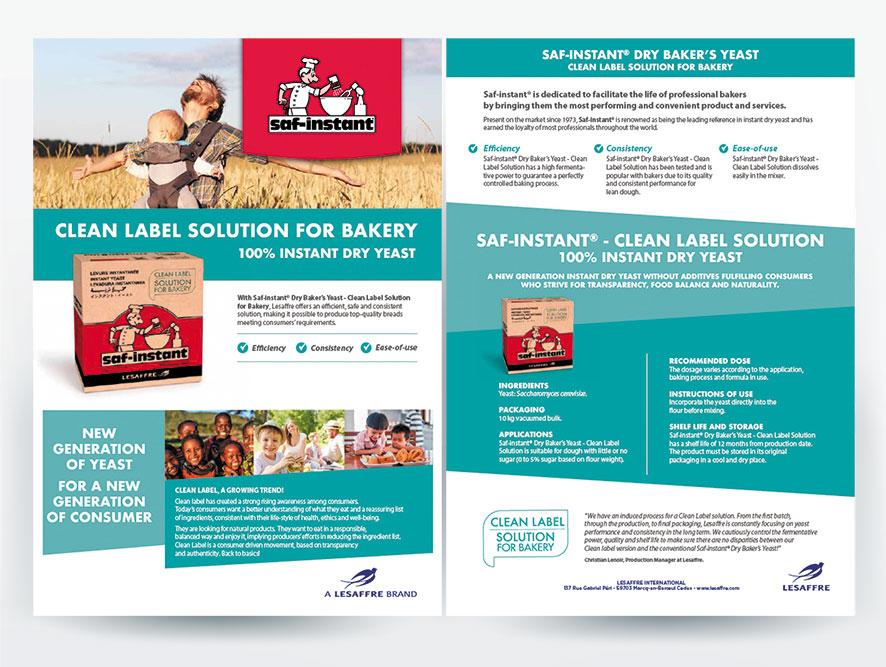 fleyr produit campagne BtoB internationale pour Lesaffre. Agence conseil en communication Bigfoot Paris