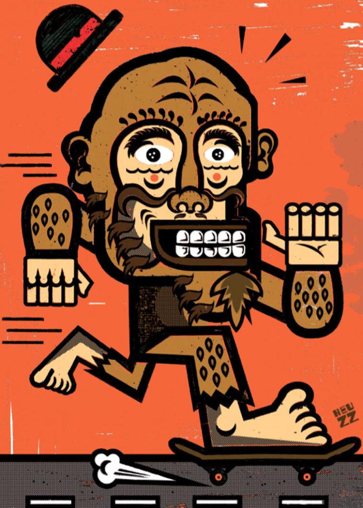 Neuzz, artistye Mexicain illustre la carte de voeux de l'agence Bigfoot en 2015